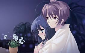 wallpaper anime lovers beautiful anime couple wallpaper hd images one hd wallpaper