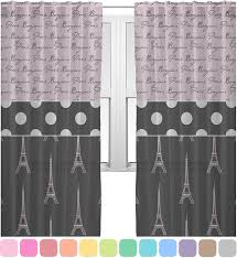 amazon com paris bonjour and eiffel tower sheer sheer curtains