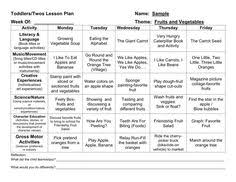 pre k lesson plan sample click on the red sentence at the