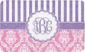Damask Bath Rug Pink Purple Damask Bath Mat Personalized Potty Concepts