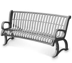 White Metal Outdoor Bench Premier Vintage Curved Benches Metal Park Benches Belson