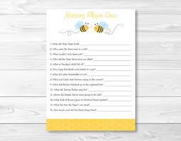 nursery rhyme baby shower bumble bee nursery rhyme quiz bumble bee baby shower bee