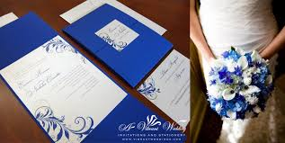royal blue wedding invitations silver and blue wedding invitation a vibrant wedding