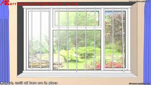 window and door bars removable security window bars window grilles youtube