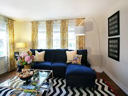 brilliant blue and yellow living rooms geometric furniture blue