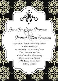 damask wedding invitations shop black and white wedding invitations online