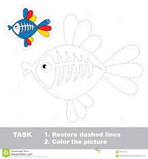 red fish to be traced stock vector image 59557601