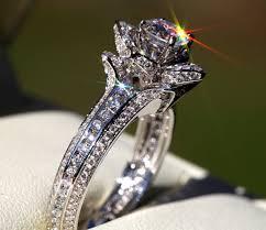 unique engagements rings images Gorgeous unique flower rose diamond engagement ring 2 00 carat jpg