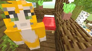 Cat Treehouse Minecraft Xbox Building Time Treehouse 17 Youtube