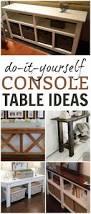 diy console table soft table ideas u0026 designs this u0027s life blog