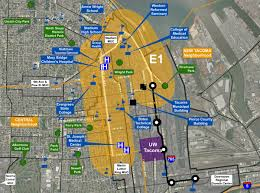Bates College Map Exit133 Sound Transit Approves Further Study Of E1 Tacoma Link