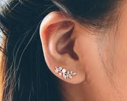 ear pin earrings ear pin etsy