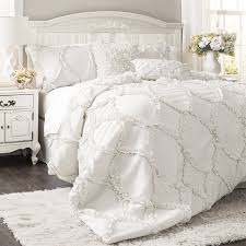 lush decor avon 3 comforter set king white
