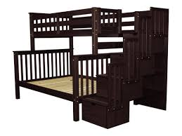 bedz king stairway twin over full bunk bed with trundle u0026 reviews
