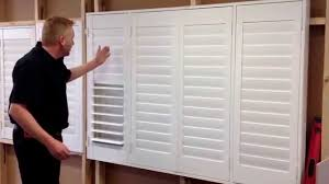 plantation shutters video installing an outside mount youtube