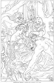 samson et dalila pierre paul rubens famous paintings coloring pages