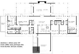 eichler floor plans the mystery of the eichler atrium eichler network