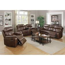 faux leather reclining sofa coaster damiano faux leather motion reclining sofa set in brown