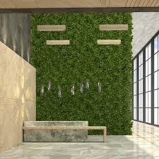 Urban Wall Garden - vertical gardens can reduce noise in your office evergreen walls