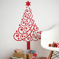 wall tree ideas paper and ornaments