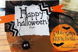 diy u0026 personalized halloween treat bags live craft eat