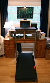 Computer Desk Treadmill Lifespan Treadmill Desk With Cast Iron Adjustable Height Pedestal