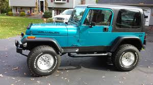 jeep wrangler l 1992 jeep wrangler base sport utility 2 door 4 0l 5 speed 4wd blue
