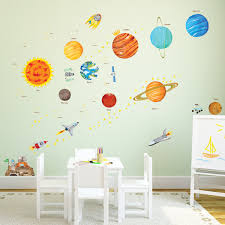 the solar system wall stickers the solar system wall stickers large