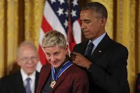 Memes De Obama - barack obama chokes up while presenting ellen degeneres with