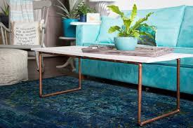 Diy Wooden Coffee Table Diy Wood U0026 Copper Coffee Table