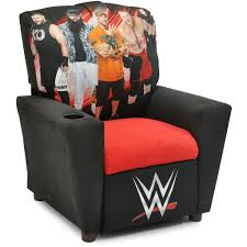 Recliner With Cup Holder Wwe Super Stars Kid U0027s Recliner With Cup Holder U2013 Red Anchor Home