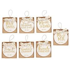 2017 milestone gold ceramic christmas ornaments by mud pie prep