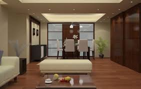 chinese interior design yellow wood tv wall for living room 3d