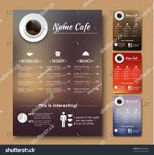 template menu coffee shop restaurant design stock vector 496582018