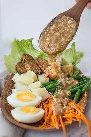 cuisine spicy gado gado salad with spicy peanut sauce wandercooks