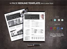 resume paper size philippines 4 page resume template resume templates on creative market