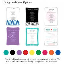 diy fan wedding programs kits buy diy wedding program fans scroll fan program kit online