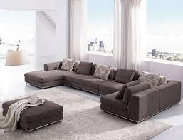 Sectional Sofas Living Room Ideas by U Sofa And Brown U Shaped Fabric Sectional Sectional Sofa Living
