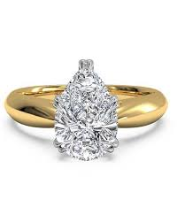 pear shaped gold engagement rings pear shaped engagement rings