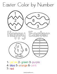 easter color number coloring twisty noodle