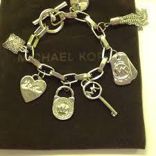 silver chain link charm bracelet images Michael kors jewelry chain link silver tone charm bracelet jpg