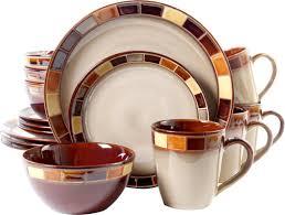 thanksgiving melamine plates fleur de lis living martha 16 piece dinnerware set service for 4