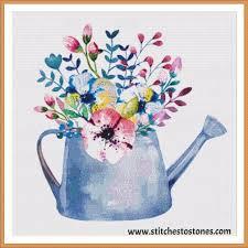 shabby chic flower pot full coverage 5d diamond painting kit