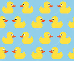 seamless vector pattern with cute bright yellow ducks duck toy