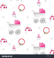 Baby Stroller Canopy by Pattern Pink Canopy Baby Stroller Pacifier Stock Vector 114308608