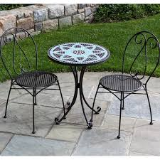 Wrought Iron Patio Dining Sets - alfresco home le mans 2 person wrought iron patio bistro set with