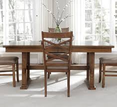 AAmerica Mariposa Rectangular Trestle Dining Table Rustic - Trestle kitchen tables