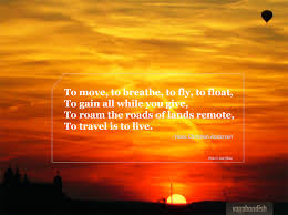 travel meaning images Travel quote hans christian andersen on the meaning of travel jpg