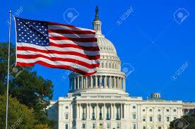 Washington Dc Flag Washington Dc Usa Flag And Capitol Building Stock Photo Picture