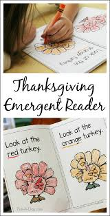 thanksgiving printable emergent reader to teach colors